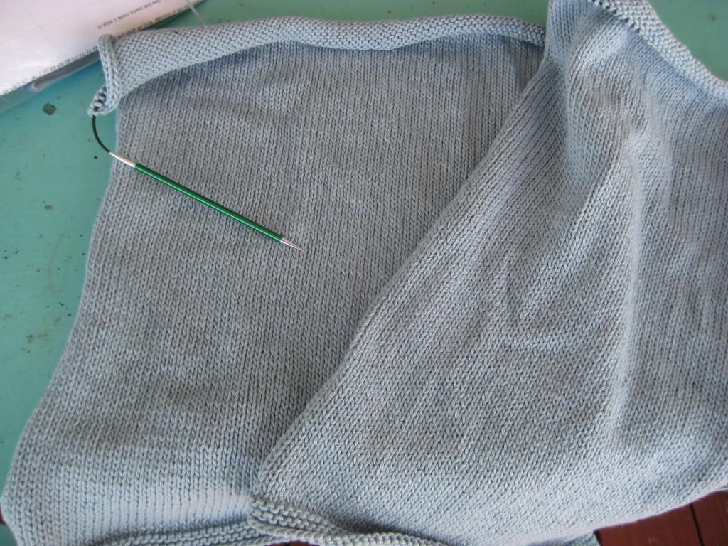 Dropps Tunic (Pattern #111-21) in Berroco Pure Pima (color 2243)