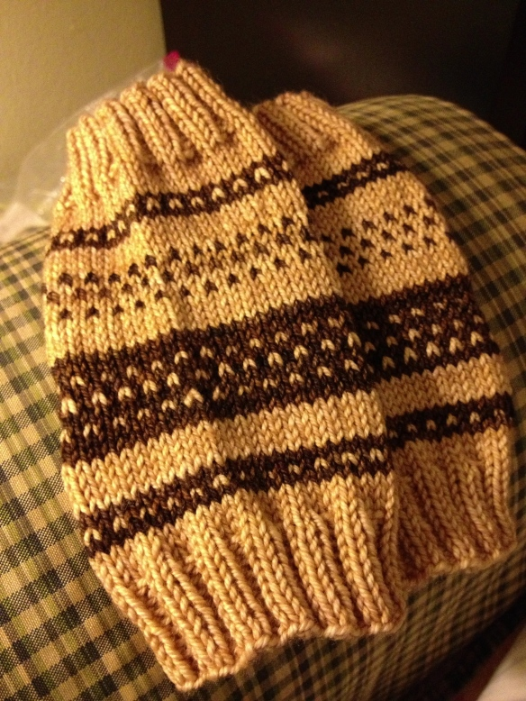 """mini me"" infant leg warmers - original Fair Isle pattern"