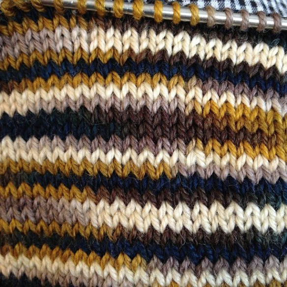 Downton Abbey KAL swatch