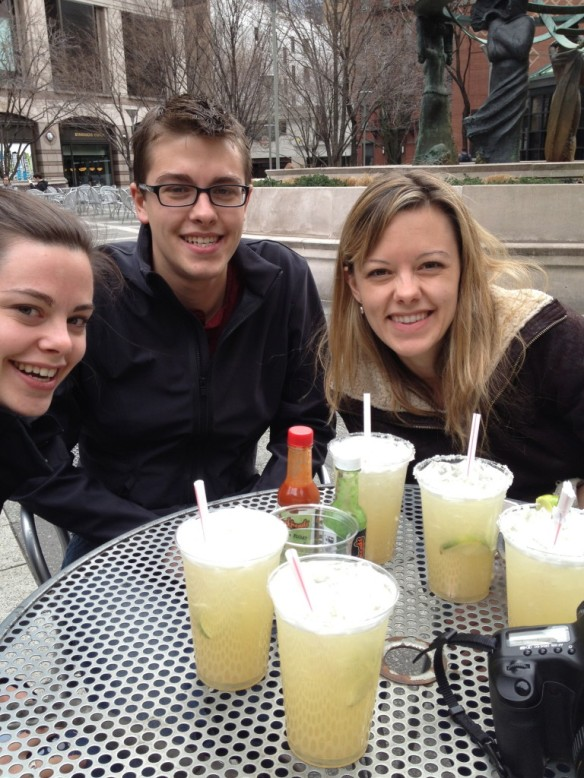 Margaritas in the afternoon with my three babies!