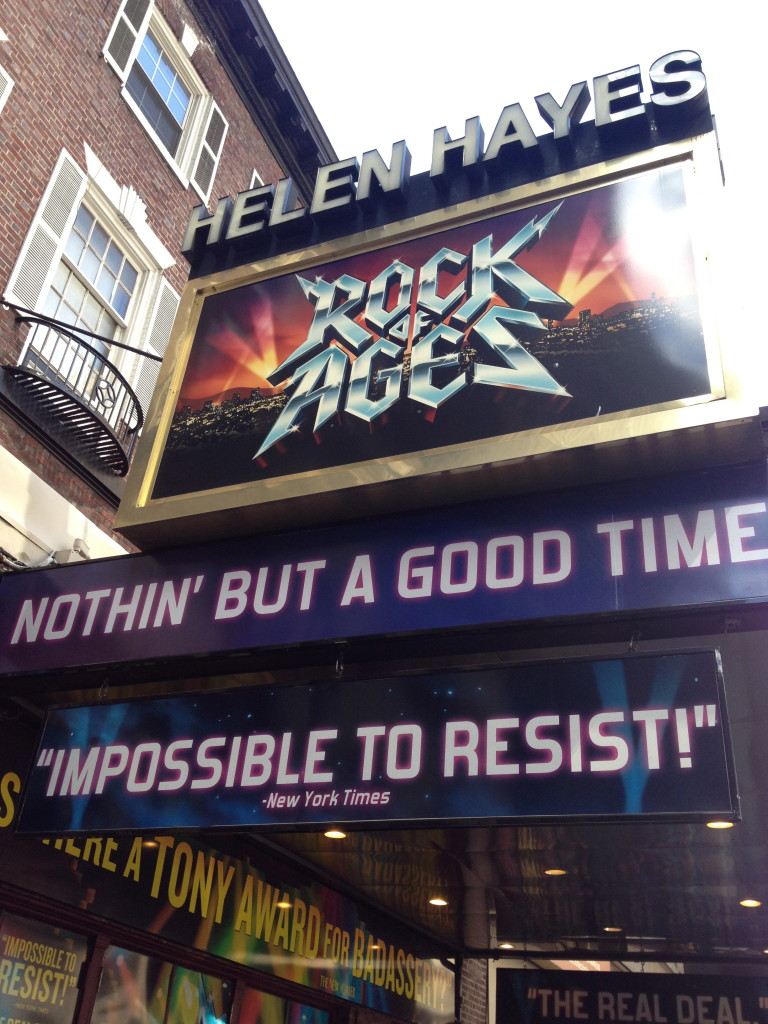 Rock of Ages at the Helen Hayes Theater