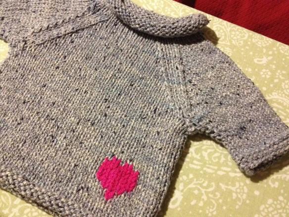 Queen Bee Knits Original Design - Baby Sweater
