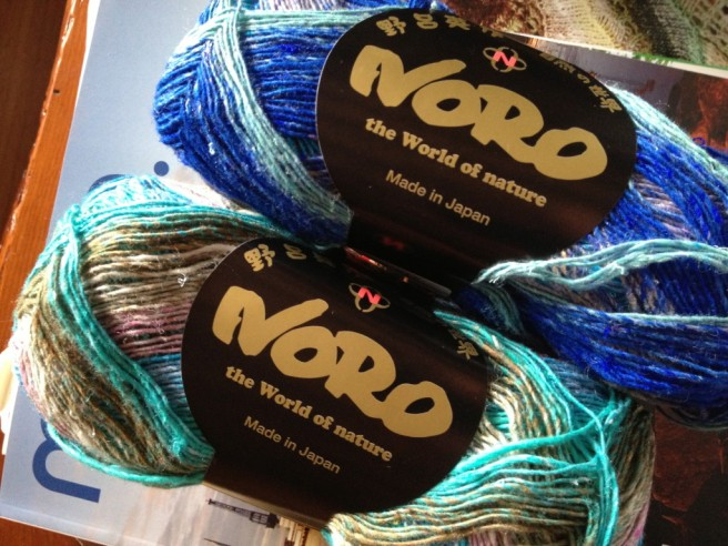 Noro Taiyo Sock - Color S17 Lot D Cotton, Wool, Polyamide & Silk 24-26 sts x 36-38 rows = 4 inches on US 2-3 needles