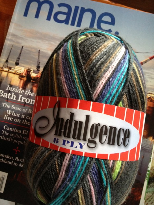 Indulgence Sock Yarn - Color 105 Lot 18411 426 yards, 21 sts x 27 rows = 4 inches on size US 3-6 needles Merino wool & Polyamide