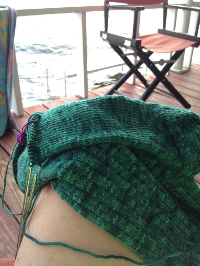 "Keep knitting! Keep Knitting! Socks for ""giant"" feet!"