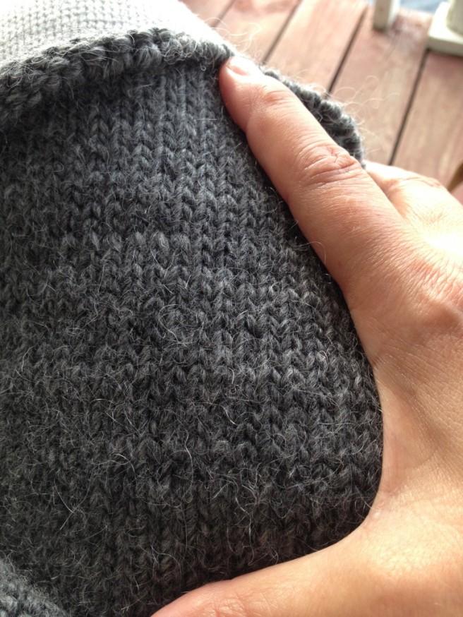 Dark Grey Purse Fabric ... getting there!