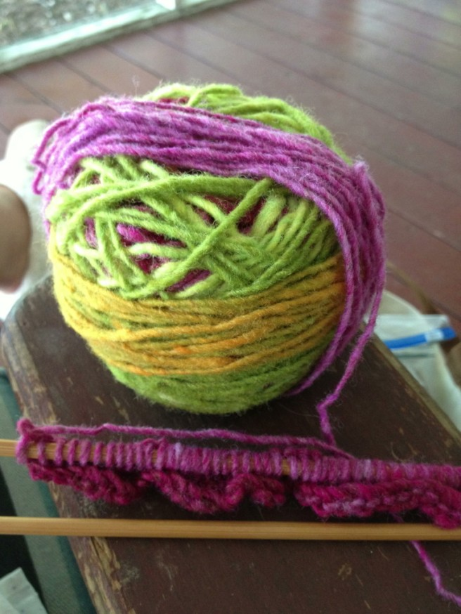 I bought some new yarn for a charity project ...
