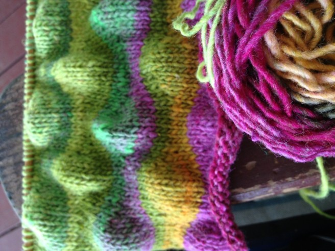 Lizard Ridge Afghan ... one square with love from the Queen Bee