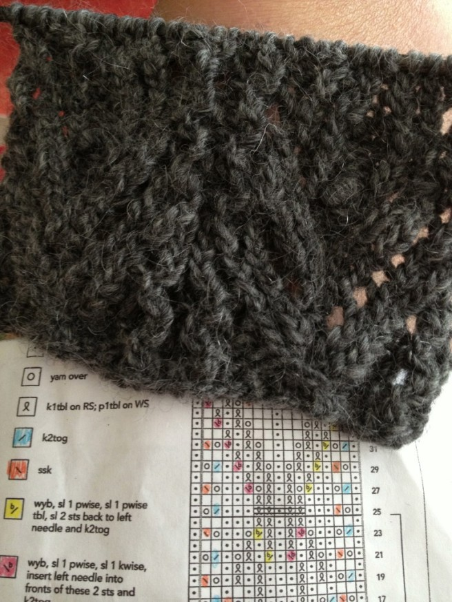 The lace end ... 2nd or 3rd attempt!