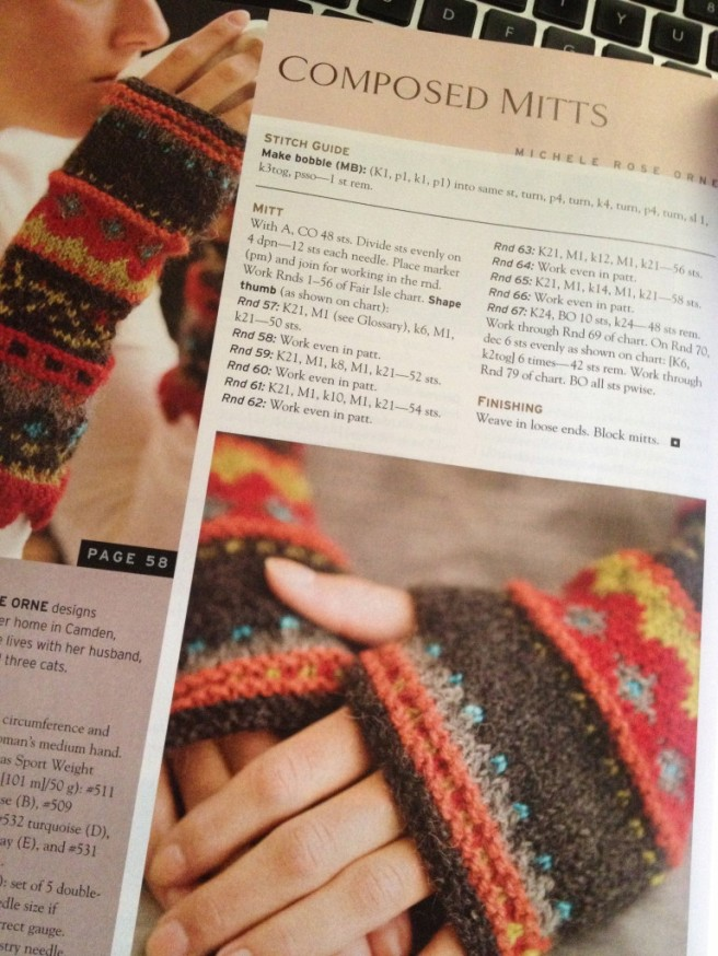 Fingerless Mitts  - colorwork is my nemesis?