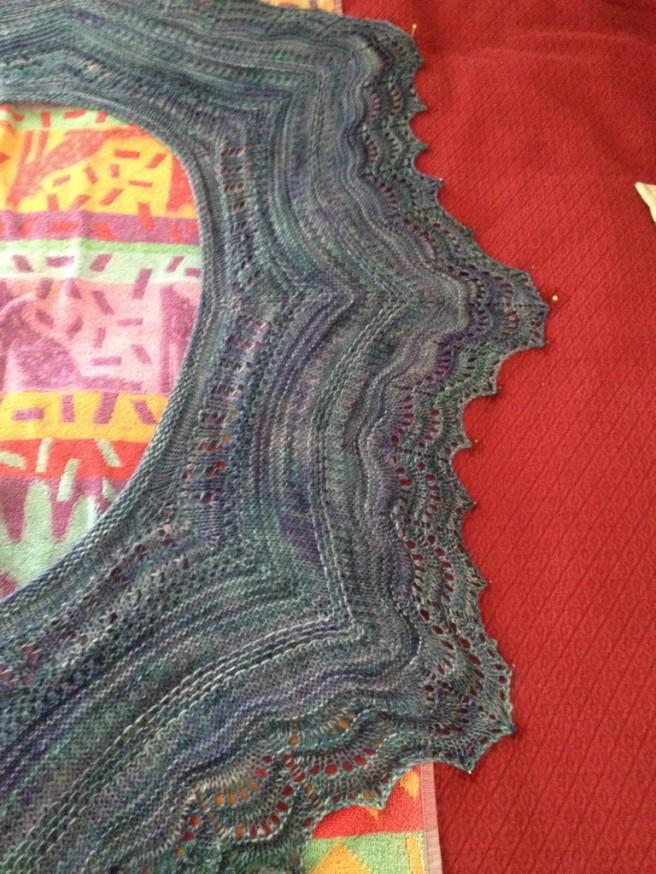 My Shawlette in Malabrigo Silky Merino color 856 Azules