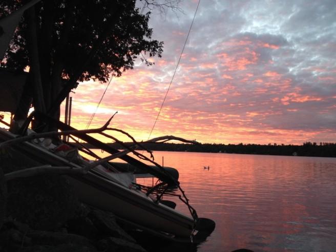 Sunrise over Messalonskee