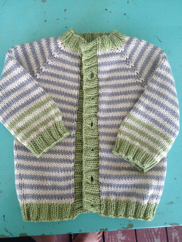 Basic Baby Raglan Cardigan Sweater