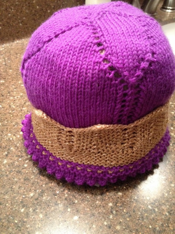 Wet blocking so the hat has some shape!