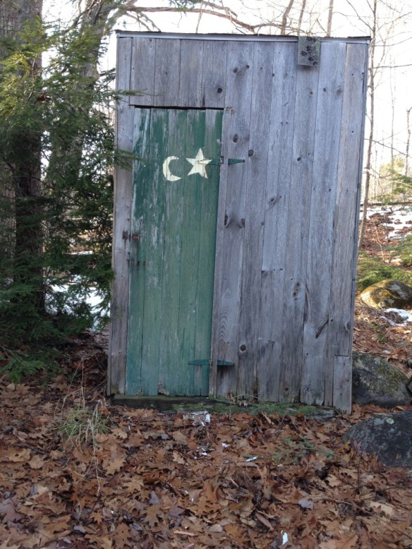"The dreaded outhouse … or ""chick sales"""