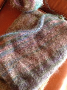 Churchmouse Yarns Mohair Stripe Wrap