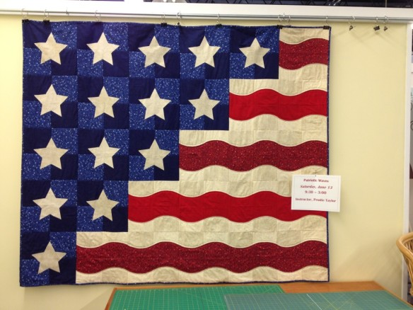 The Class Sample … this is what my quilt will look like