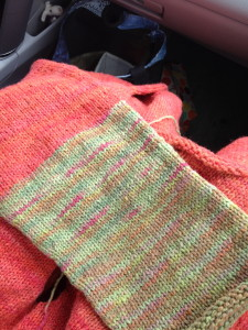 Driftwood Sweater … the green's a sleeve